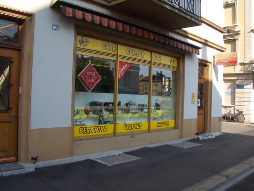 Das Ladengeschäft von Cafe-Center in Biel